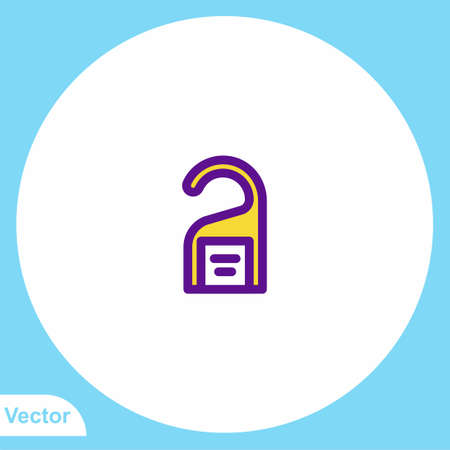 Door hanger vector icon sign symbol  イラスト・ベクター素材