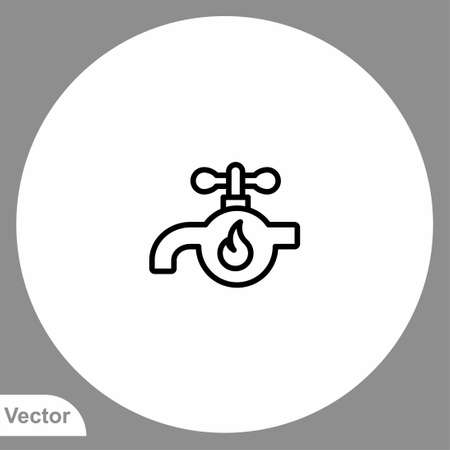 Faucet icon sign vector,Symbol, logo illustration for web and mobile