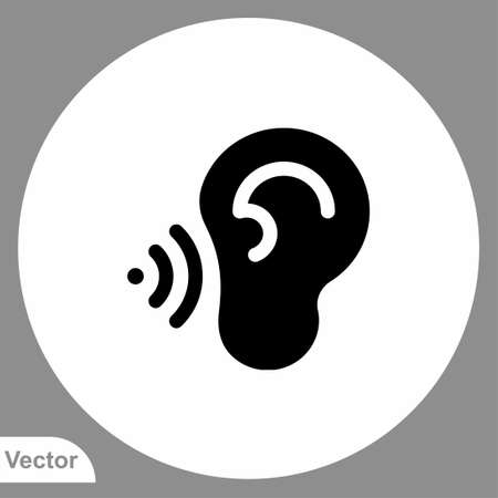 Ear icon sign vector,Symbol, logo illustration for web and mobile