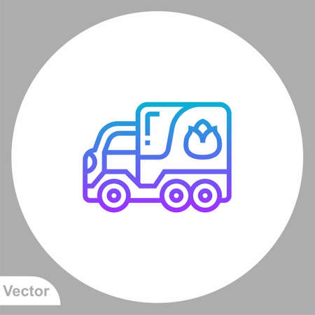 Fire truck icon sign vector, Symbol, illustration for web and mobile Vectores