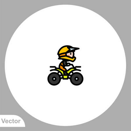 ATV icon sign vector, Symbol,  illustration for web and mobile Illustration