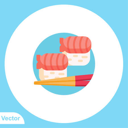 Sushi vector icon sign symbol
