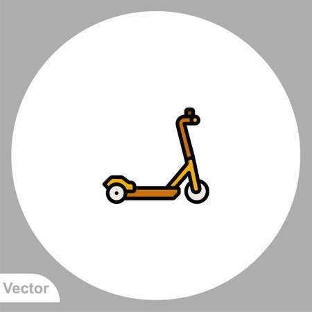 Kick scooter icon sign vector, Symbol, logo illustration for web and mobile