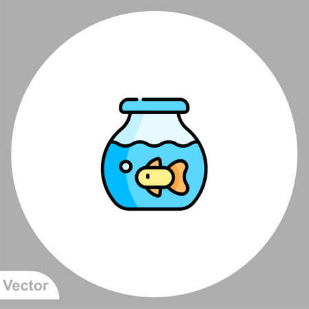 Fish aquarium icon sign vector, Symbol, logo illustration for web and mobile Illustration