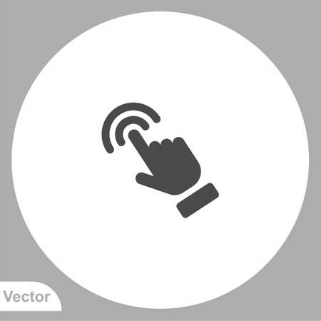 Touch finger icon sign vector, Symbol illustration for web and mobile