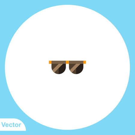 Sunglasses flat vector icon sign symbol Ilustrace