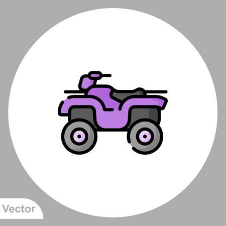 ATV icon sign vector, Symbol illustration for web and mobile Illustration