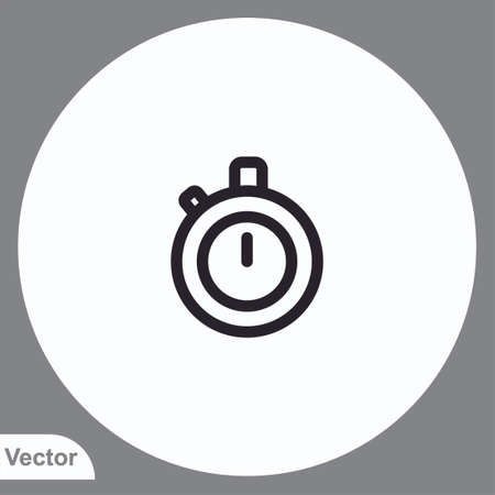 Stopwatch vector icon sign symbol