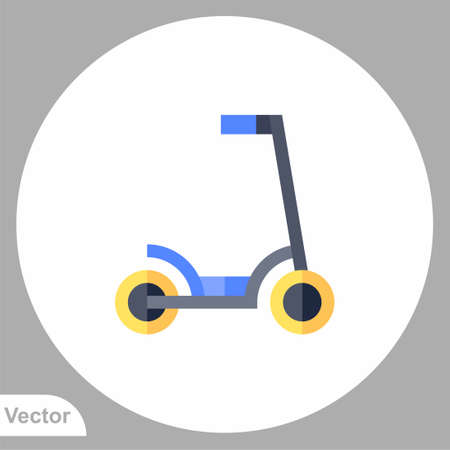 Kick scooter icon sign vector, Symbol illustration for web and mobile