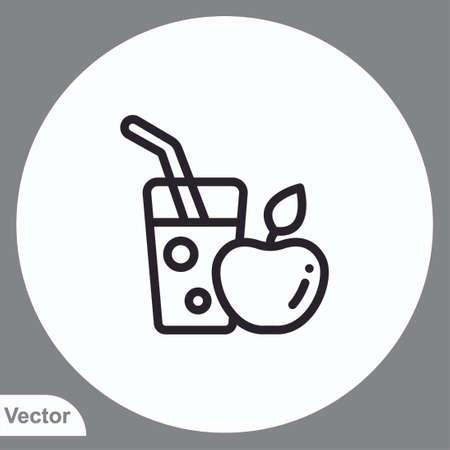 Water glass vector icon sign symbol Vettoriali