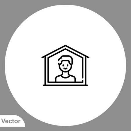 Quarantine icon sign vector, Symbol illustration for web and mobile  イラスト・ベクター素材