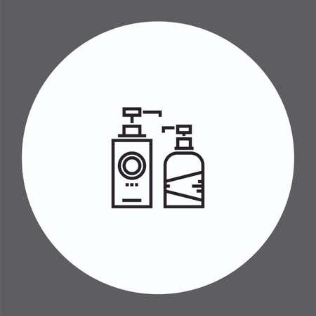 Liquid soap vector icon sign symbol Illusztráció