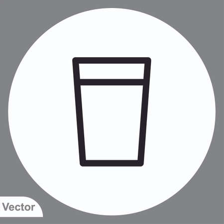 Water glass vector icon sign symbol Illusztráció