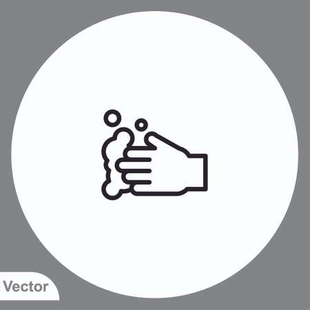 Washing hand vector icon sign symbol