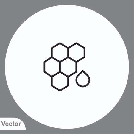 Honey vector icon sign symbol Иллюстрация