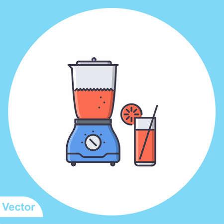 Blender flat vector icon sign symbol Illusztráció
