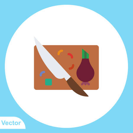 Cutting board vector icon sign symbol Illusztráció
