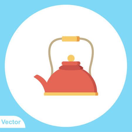 Kettle flat vector icon sign symbol Illusztráció