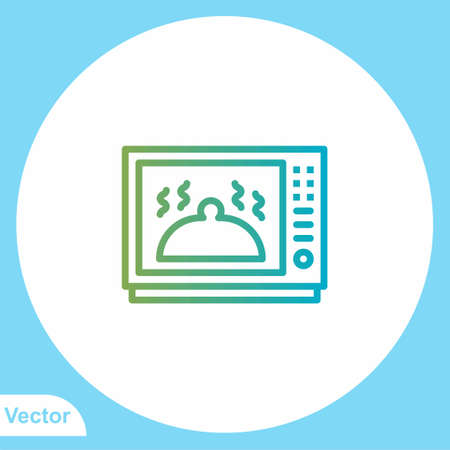 Microwave flat vector icon sign symbol Illusztráció