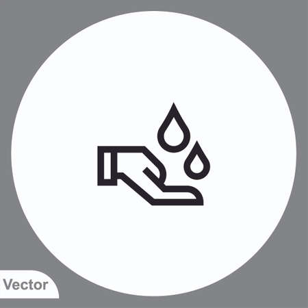 Washing hand vector icon sign symbol