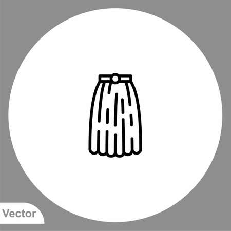 Skirt icon sign vector, Symbol, logo illustration for web and mobile Illusztráció