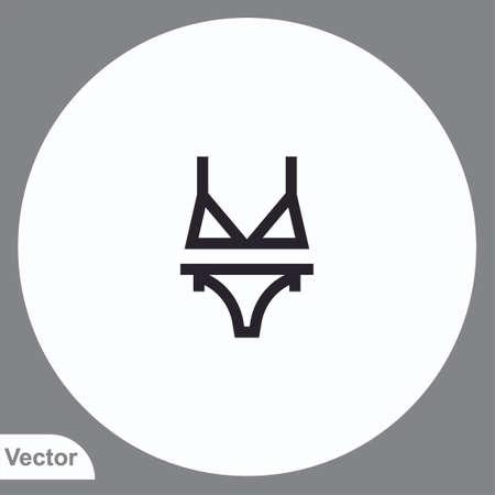 Bikini vector icon sign symbol