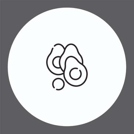 Avocado vector icon sign symbol
