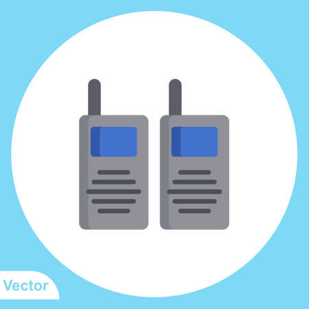 Walkie talkie vector icon sign symbol