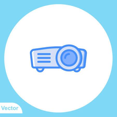 Projector vector icon sign symbol Иллюстрация
