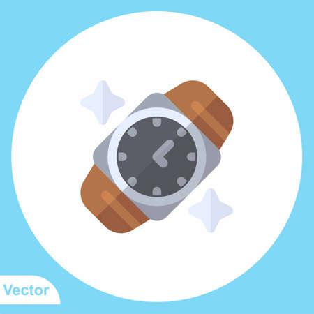 Wristwatch vector icon sign symbol Ilustração