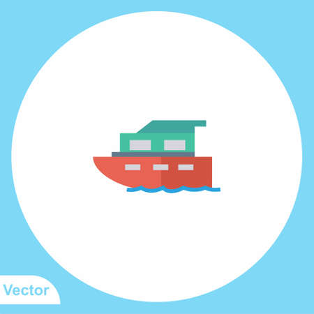 Ship vector icon sign symbol