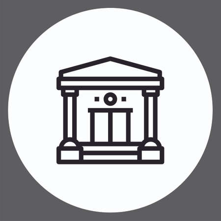 Bank vector icon sign symbol