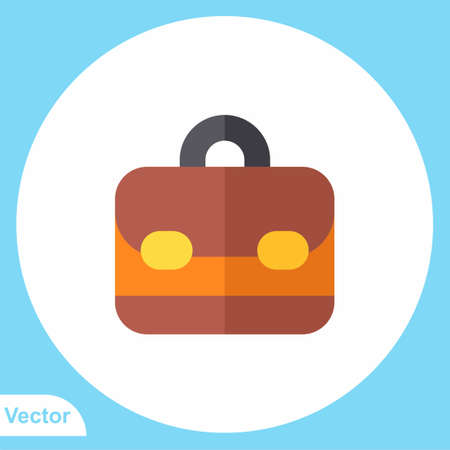 Briefcase vector icon sign symbol
