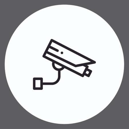 Security camera vector icon sign symbol Illusztráció
