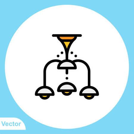 Chandelier flat vector icon sign symbol 일러스트