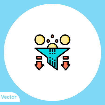 Filter vector icon sign symbol