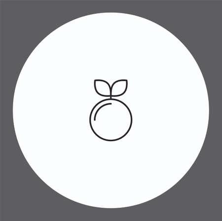 Peach vector icon sign symbol