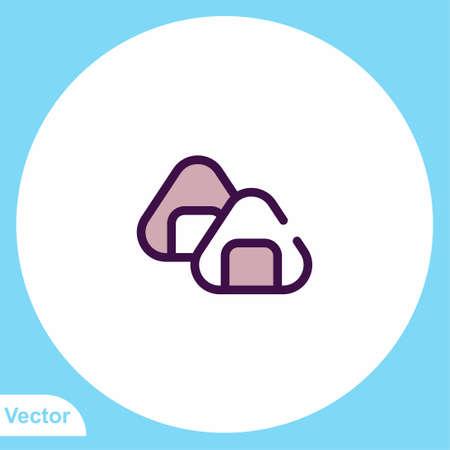 Sushi vector icon sign symbol