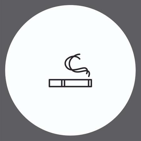 Cigarette vector icon sign symbol Illusztráció