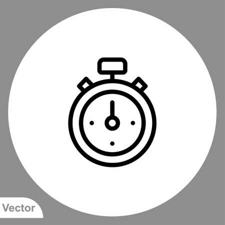 Stopwatch icon sign vector, Symbol, logo illustration for web and mobile Çizim