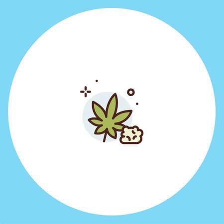 Cannabis flat vector icon sign symbol Illusztráció