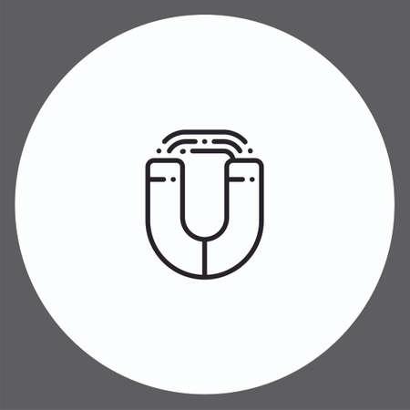 Magnet vector icon sign symbol Иллюстрация