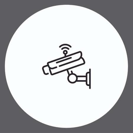 Security camera vector icon sign symbol Ilustração