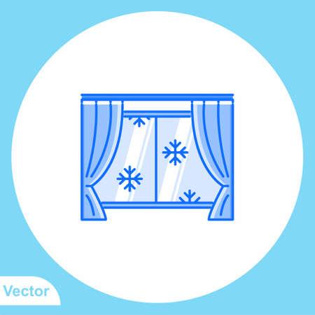 Curtain vector icon sign symbol Ilustração