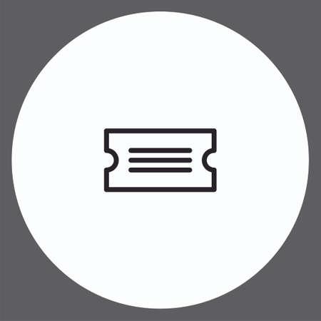 Ticket vector icon sign symbol