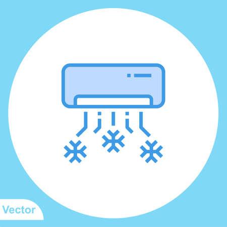 Air conditioner vector icon sign symbol