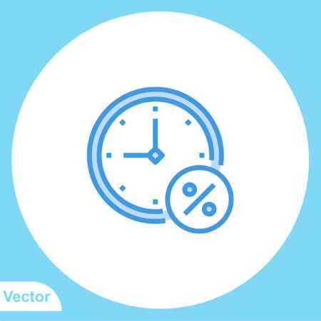 Wall clock vector icon sign symbol Illusztráció