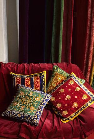 Colourful cushions Stock Photo