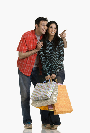 Couple with shopping bags Stock Photo - 80322530
