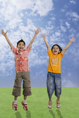 Children jumping with joy